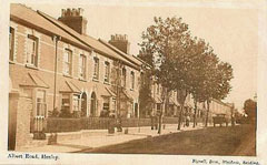 Old postcard of Albert Road, Henley.