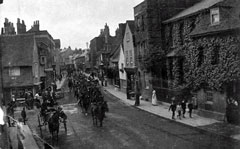 Old postcard of Bell Street, Henley.