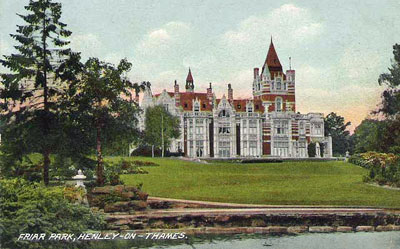 An old picture of   Friar Park   from a postcard sent during Christmas 1910.