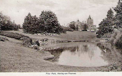 An old picture of   Friar Park   from a postcard sent during January 1913.