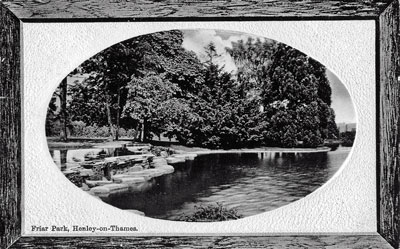 The stepping stones in the lake at   Friar Park  .