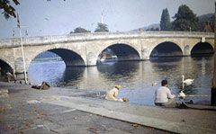 Old postcard of Henley Bridge, Henley.