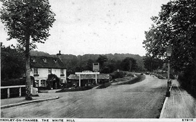 The foot of White Hill in   Remenham   on the other side of   Henley Bridge  .