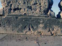 Ordnance Survey Bench Mark on Henley Bridge